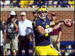 Quarterback Shane Morris will play for the Blue team in the University of Michigan's spring football game at noon today at the Big House.
