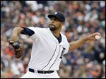 Detroit Tigers starting pitcher David Price retired the first 13 Minnesota batters and allowed five hits before being pulled.