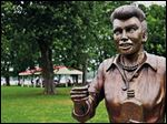 A bronze sculpture of Lucille Ball is displayed in in Lucille Ball Memorial Park in the village of Celoron, NY., Lucy's home town.