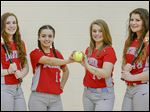 Bowsher looks to repeat its City League title with top players, from left, Alexa Boisselle, Delina Masters, Emma Cowell, and Aubrey Urbina.