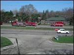 Emergency crews on the scene of the crash on the Anthony Wayne Trail in South Toledo.