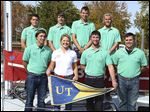 The UT Sailing Club, which travels to France on Sunday, includes, from left, top row, Drew Blackburn, Evon DePrey, Hans Guentert, and Colin Mackay, and front, Luke Gossman, Debbie Dollard, Garrett Altenberger, and Andrew Logan.