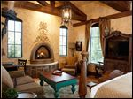 Rooms at Gervasi Vineyard and Winery come with Tuscan-inspired decor and a gas fireplace.
