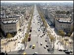 The Avenue des Champs-Elysees, the most celebrated boulevard in Paris, is one of the world's top tourism and shopping attractions.