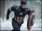 Chris Evans as Captain America/Steve Rogers, in the new film,
