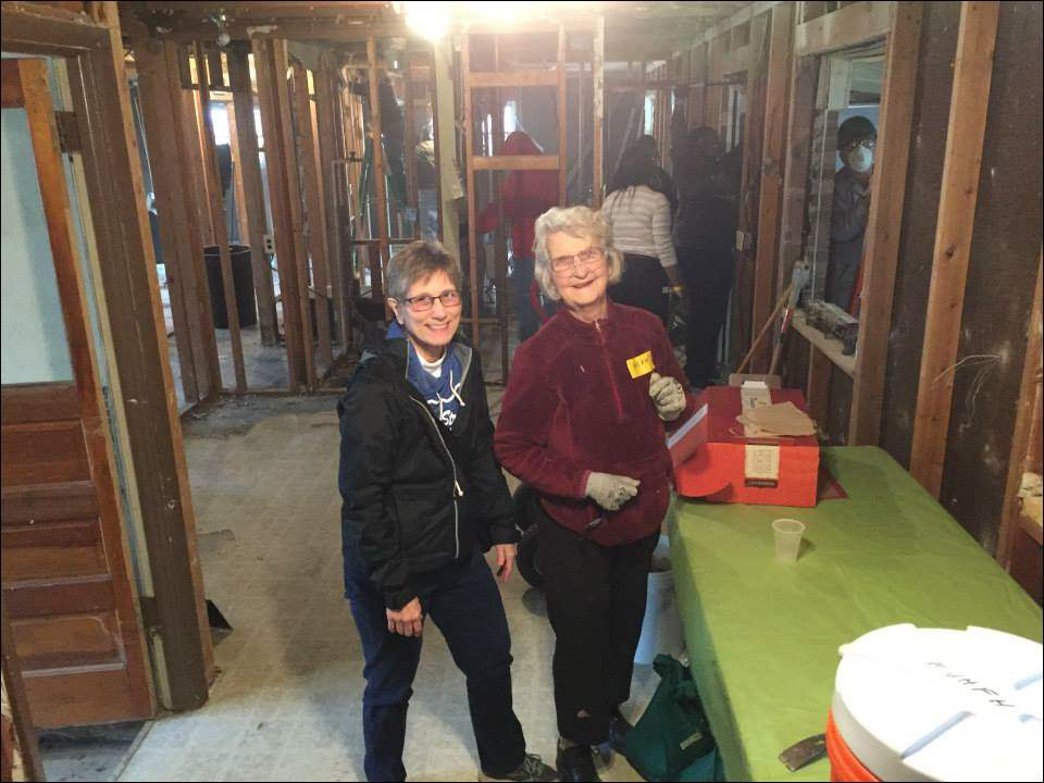 Sylvania United Church of Christ members Bonnie Loeser and Helen Watson volunteer in April at the church's 2015 Maumee Valley Habitat for Humanity Friendship Build with Christ Presbyterian and St. Michael's in the Hills Episcopal.