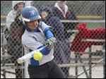Springfield senior Hannah Girlie gets a base hit against Northview. She has helped lead the Blue Devils to a 16-0 record this season and No. 3 ranking in Division I.