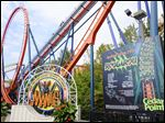 Despite posting a first-quarter loss, Cedar Fair LP officials were upbeat about the upcoming summer season with new rides and attractions for 2015 that have yet to open, including Rougarou, its newest coaster.