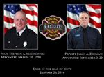 Toledo firefighters Stephen A. Machcinski, and James A Dickman, who were killed while fighting a fire in North Toledo, Sunday, Jan. 26, 2014.