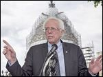 Sen. Bernie Sanders ( I., Vt.) speaks last week about the agenda for his Democratic presidential campaign.