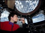Italian astronaut Samantha Cristoforetti fired up the first espresso machine in space. She posted a photo of herself on Twitter from the International Space Station on Sunday, sipping from a cup designed for use in zero-gravity.