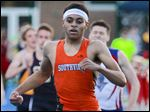 Southview's Frank Hayes wins the 800-meter run at the Knight Relays at St. Francis. The junior finished fourth at the Divison I state meet last season with a time of 1:53.69.