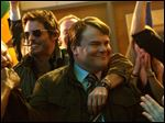 James Marsden, left, and Jack Black in a scene from