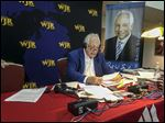Paul W. Smith broadcast his show on WJR Friday from Monroe County Community College, where he's an alumni.  'I've taken Monroe with me wherever I've gone,' he said.