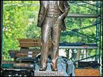 The sculpture of Thomas Edison was crafted by Alan Cottrill of southeast Ohio's Zanesville.