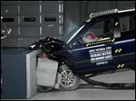 A crash test of a 2002 Honda CR-V, one of the models subject to a recall to repair faulty air bags.