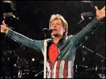 Bon Jovi performs in concert with his band Bon Jovi on their Because We Can Tour 2013, in Philadelphia.