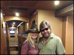 Toledo native Michelle Poe, left, is the bass guitarist for Hank Williams, Jr., right.