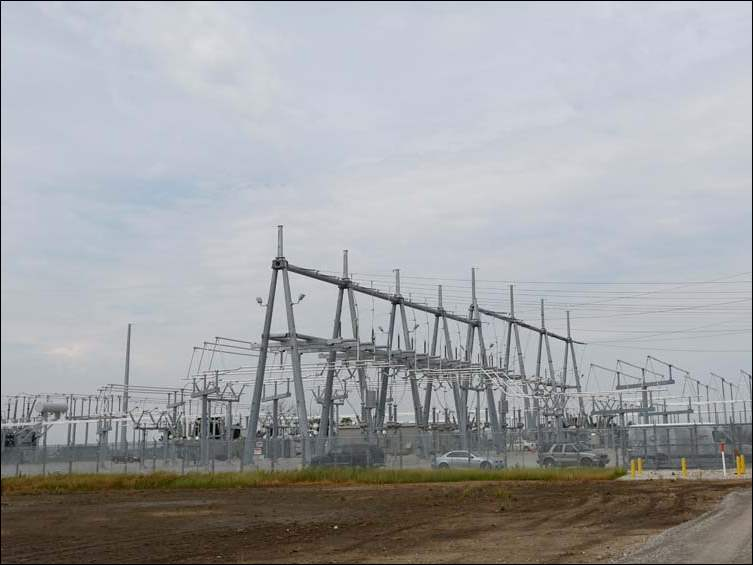 The new Toledo Edison Dowling Transmission Substation on Mercer Road in Bowling Green.