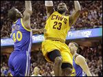 LeBron James and the Cavaliers take on Golden State in Game 5 at 8 p.m. today. STORY PAGE 3.