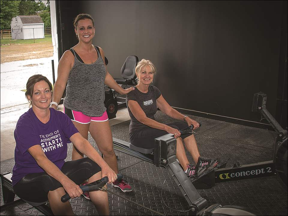 From left are Beth Wong, Black Swamp CrossFit owner Abbey Mortemore, and Sue Mortemore at 'The Longest Day' event to benefit the Alzheimer's Association.