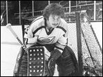 Ted Tucker was in goal in 1975 when the Goaldiggers won the Turner Cup.