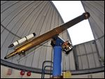 The six-inch Brashear refracting telescope, on UT's campus since 1931, is in the process of being replaced by a new telescope for the Brooks Observatory.