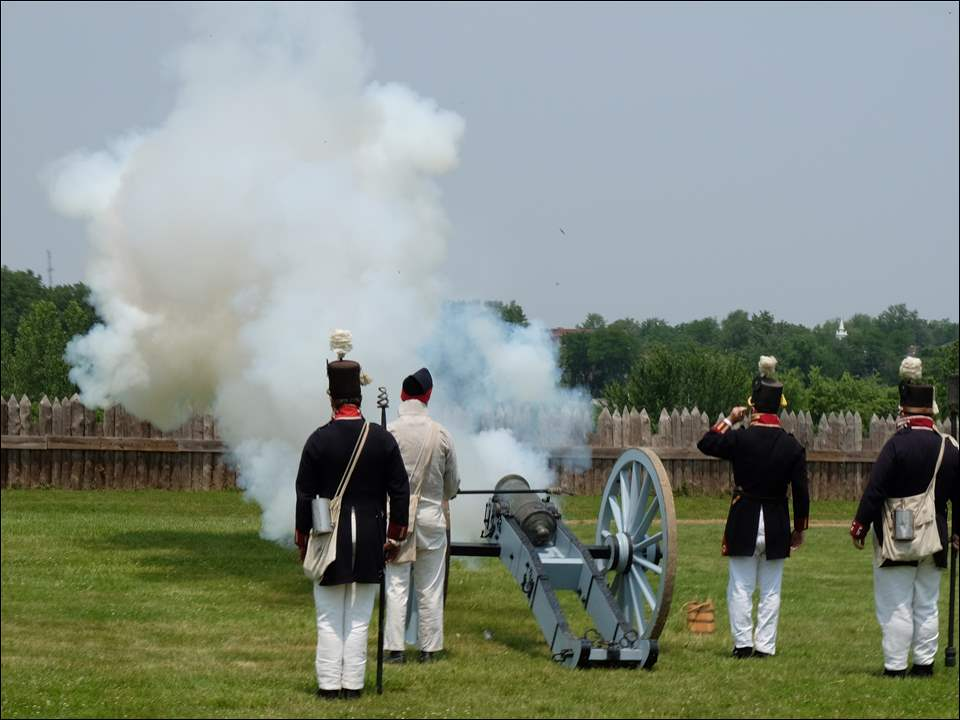 The second day of Independence Day weekend at Fort Meigs 1813 in Perrysburg, Ohio on Sunday.
