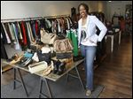 Jonelle Massey of Style 5:16 Designer Consignment Boutique & Craft-Party Studio has signed up bus tour patrons for weeks.