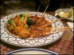 Chicken satay from Rose Thai restaurant on Monroe Street.