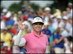 The LPGA saw a May practice session where Morgan Pressel was working on her swing as a way to promote itself in social media.