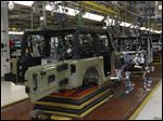 The Jeep Wrangler assembly line at Chrysler Toledo Assembly Complex in Toledo.