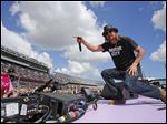 Kid Rock performs before the Daytona 500 NASCAR Sprint Cup series auto race at Daytona International Speedway in Daytona Beach, Fla.,  on Feb. 22.