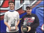 Miami University team of Chris Bulaw of Wheaton, Ill. (left), and Josh Prephan of Perrysburg (right), won the FLW College Fishing Northern Conference event on Indian Lake Saturday.