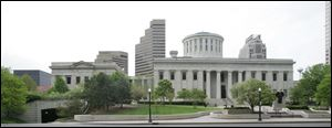 The Statehouse Building, Ohio Capitol in Columbus, Ohio.