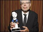 Author Stephen King holds his Edgar Award for Best Novel for 'Mr. Mercedes' at the 2015 Edgar Awards in New York.
