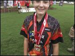 Sophie Howard of Sylvania, national champion archer, at the 2015 JOAD Easton Nationals in Alabama.