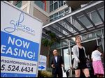 Visitors arrive for the grand opening of Gibson Santa Monica, a new luxury apartment complex in downtown Santa Monica, Calif. Residential rents, the biggest driver of inflation in 2015, climbed 3.5 percent in June from a year earlier, the fifth straight month with an annual gain of that size.