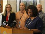 Mayor Paula Hicks-Hudson updates the current status of Toledo's water to a