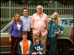 'Vacation' stars, clockwise from back left, Christina Applegate, Ed Helms, Chevy Chase, Beverly D'Angelo, Steele Stebbins, and Skyler Gisondo.