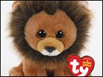 Ty Warner introduces Cecil the Lion Beanie Baby.