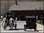 Early modes of transportation at Greenfield Village at the Henry Ford Museum.