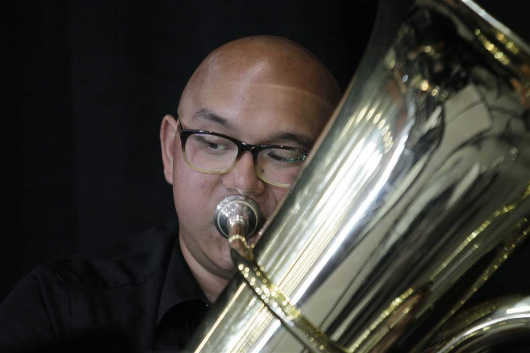 """the road to becoming a tuba player  of the tuba and becoming accustomed to the embouchure technique  without  adequate airflow, the tuba player struggles to """"hit"""" notes in the  at times, the  tuba parts can be heavily syncopated, or crafted in a way that."""