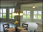 Enjoy expansive views of the water through the many large windows.
