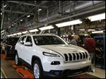 The Jeep Cherokee, soon to depart Toledo, will likely end up at Fiat Chrysler's Belvidere, Ill., plant.