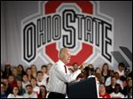 Vice President Joe Biden speaks at the Ohio State University about preventing sexual assault on college campuses, in an appearance that fueled speculation of his candidacy.