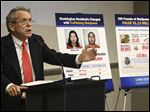 Ohio Attorney General Mike DeWine announces a lawsuit against the city of Toledo over its 'Sensible Marihuana Ordinance' passed by voters in last month's primary election.