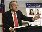 Slug: CTY DEWINE06p  THE BLADE/JEREMY WADSWORTH    Caption: Ohio Attorney General Mike DeWine announces a lawsuit against the City of Toledo regarding the