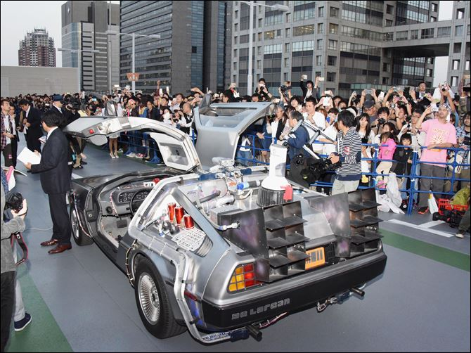 Japan back to the future day delorean remodeled similar to the