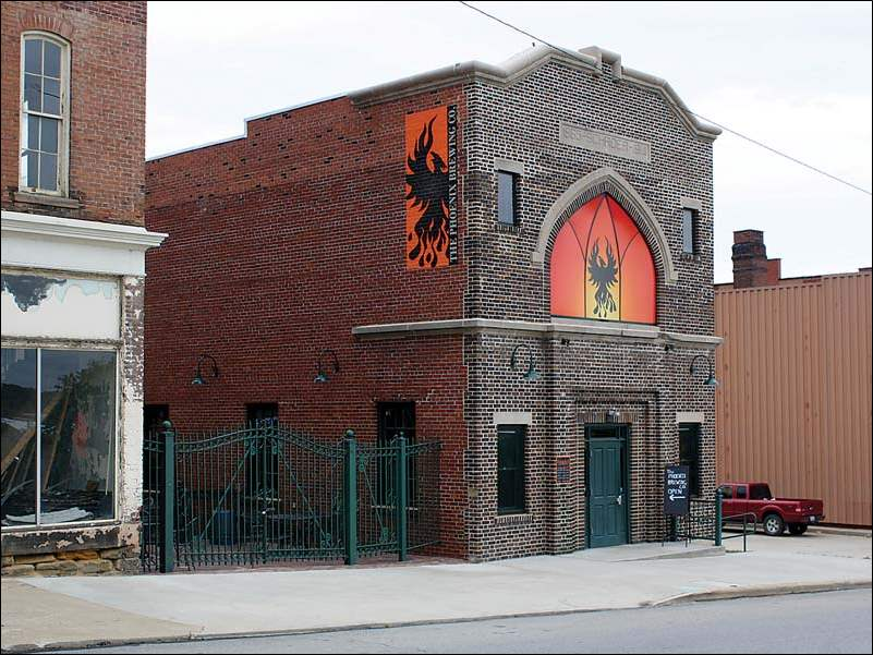 The exterior of The Phoenix Brewing Company in Mansfield, Ohio.